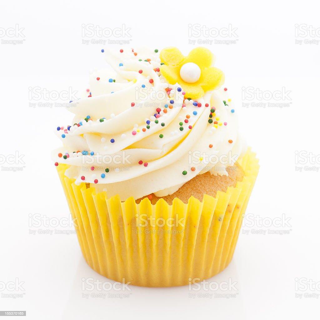 Yellow lemon cupcake royalty-free stock photo