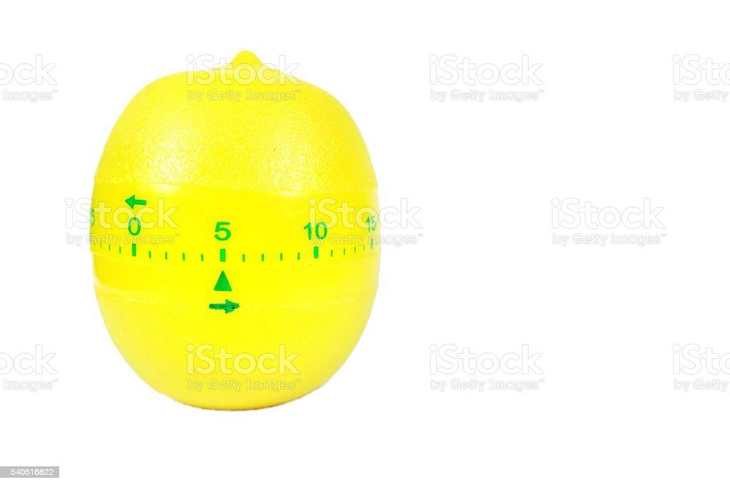 Yellow lemon timer isolated on white stock photo
