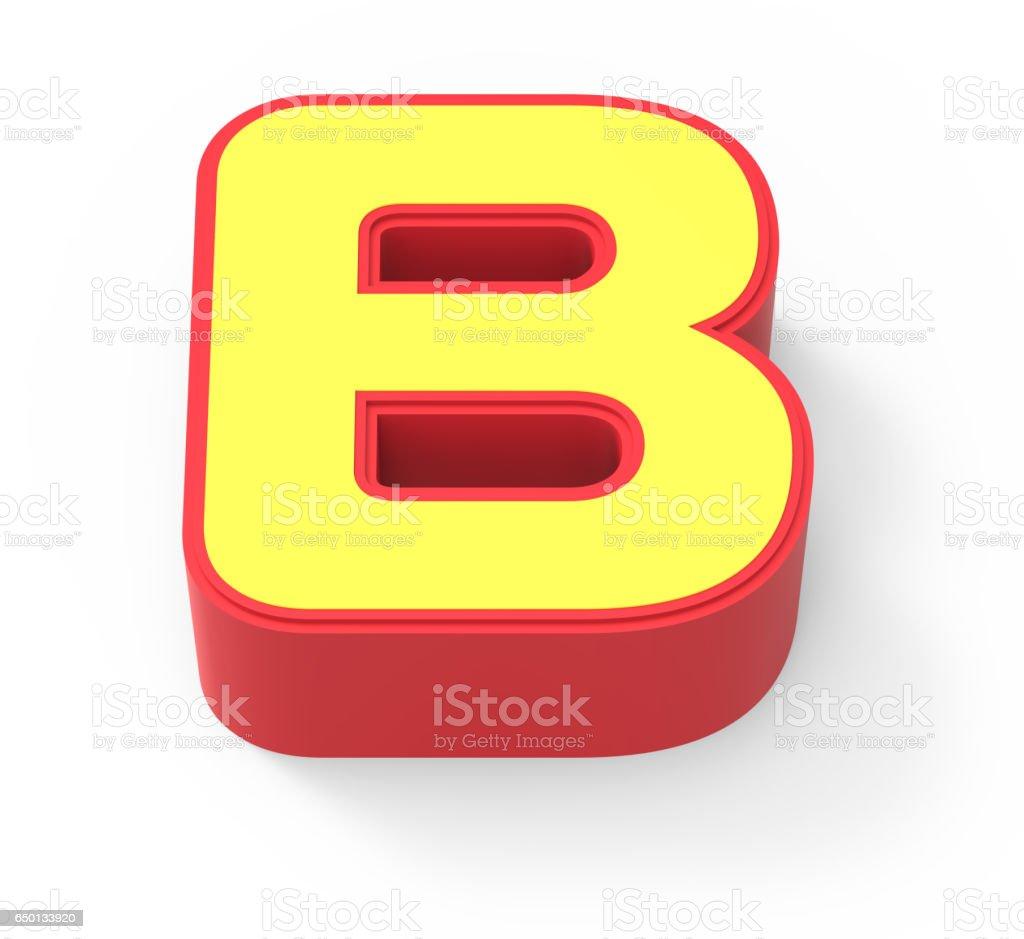 yellow letter B stock photo