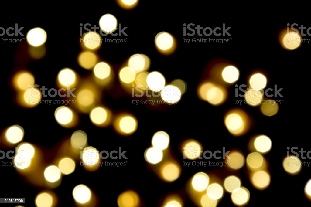 yellow light bokeh background,black background royalty-free stock photo