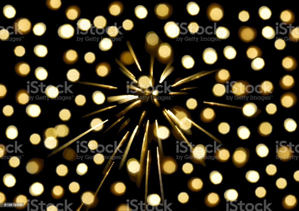 yellow light bokeh background,Blurred background royalty-free stock photo