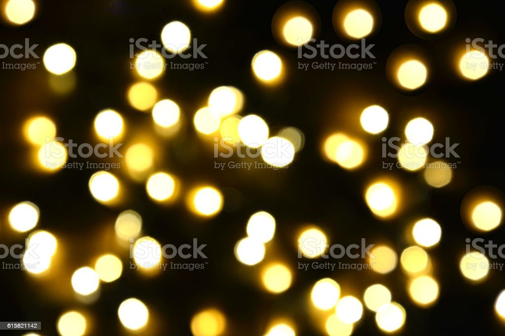 yellow light bokeh background,Blurred background royalty-free stock photo