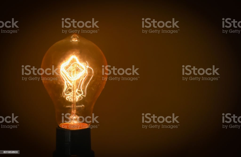 Yellow Light Bulb stock photo