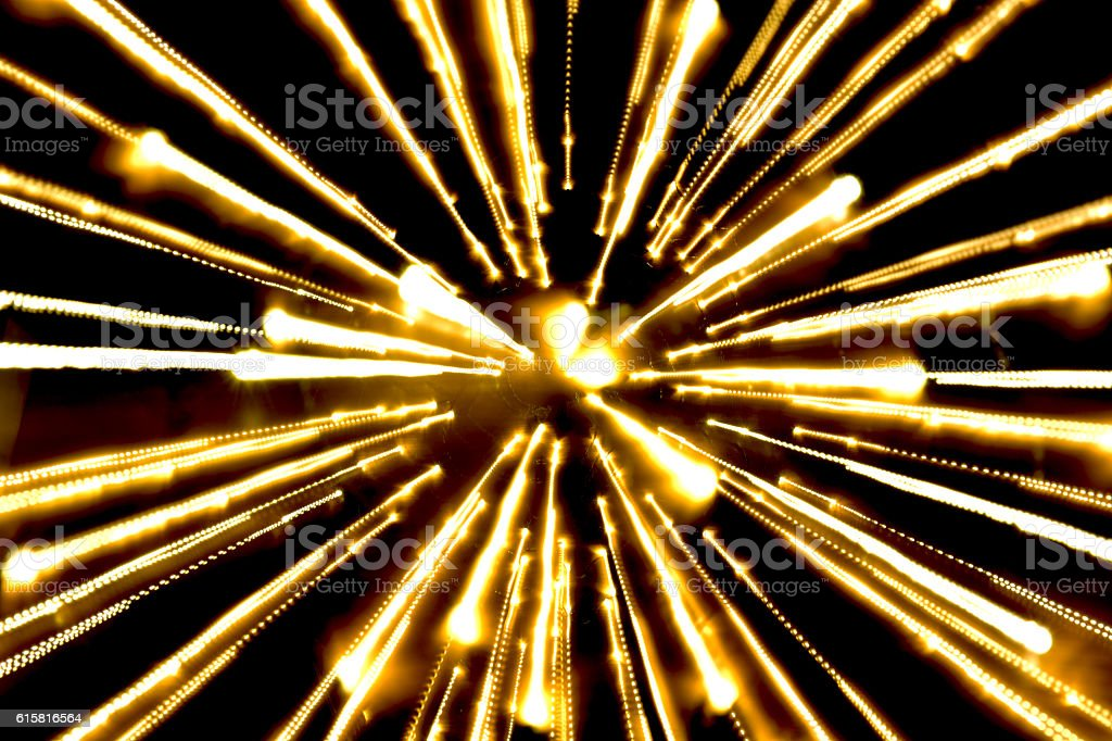 yellow light, long exposure royalty-free stock photo