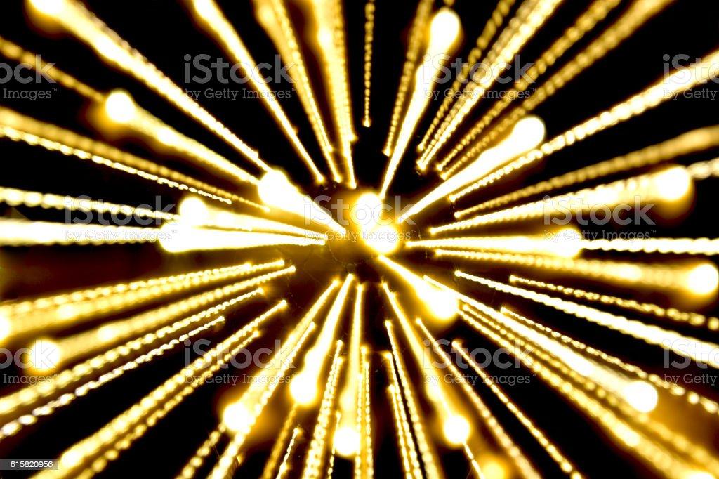 yellow light, long exposure royalty-free stock photo