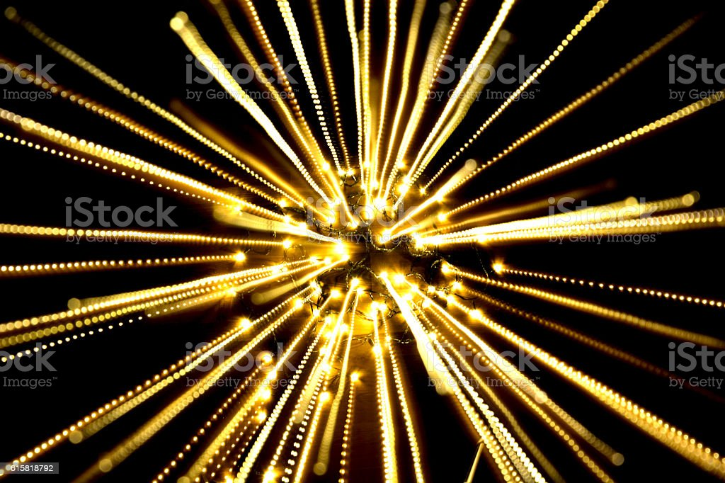 yellow light, long exposure spread light royalty-free stock photo
