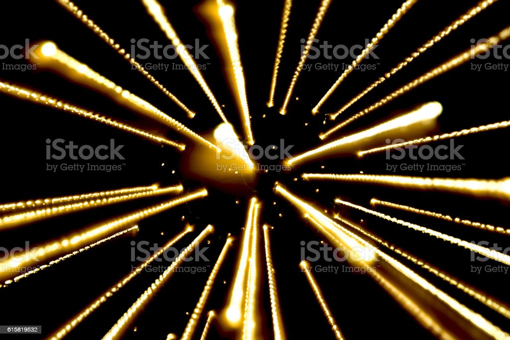 yellow light, long exposure spread light, royalty-free stock photo