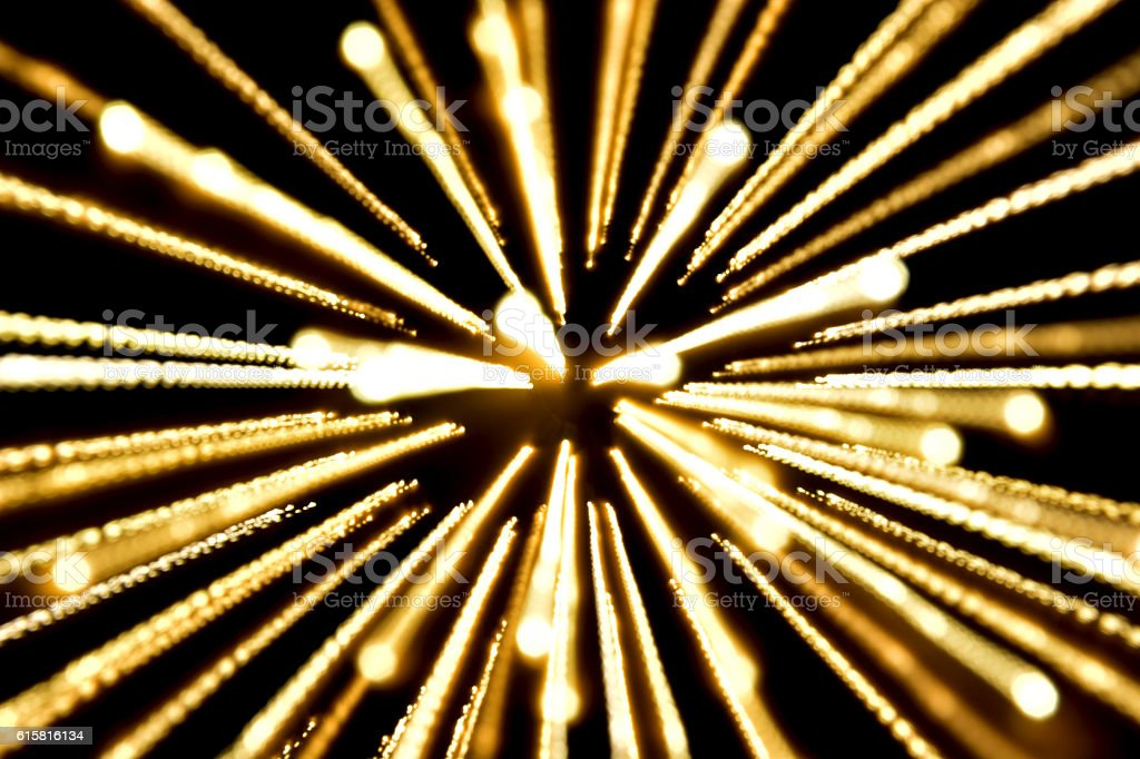 yellow light, long exposure spread light,bombs from cente royalty-free stock photo