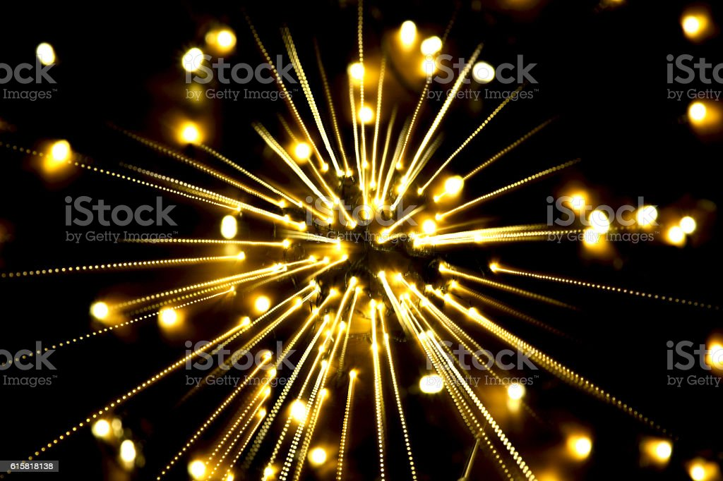 yellow light, long exposure,bomb for center royalty-free stock photo