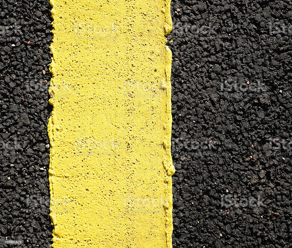 Yellow Line Close-up stock photo