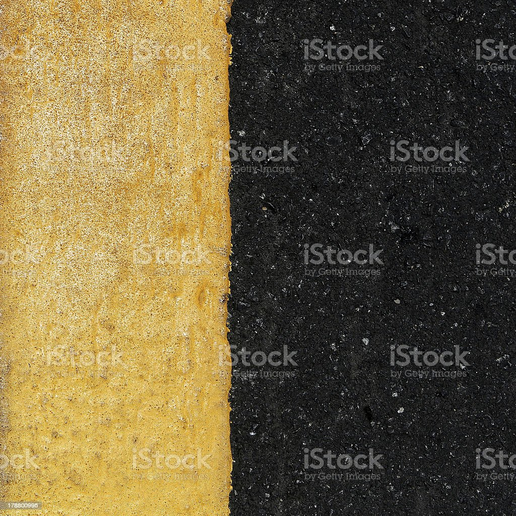 yellow line on the road royalty-free stock photo