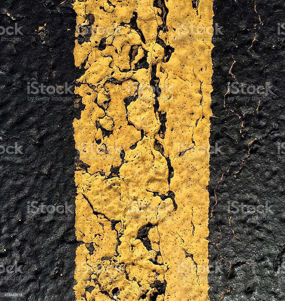 Yellow Line stock photo