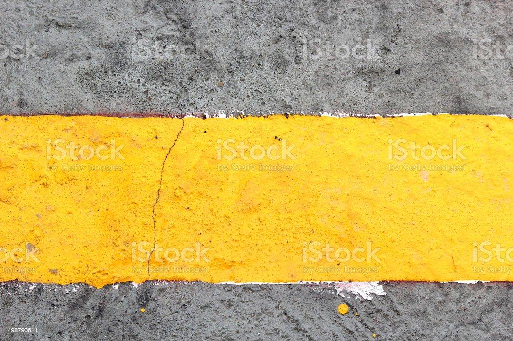 Yellow line royalty-free stock photo