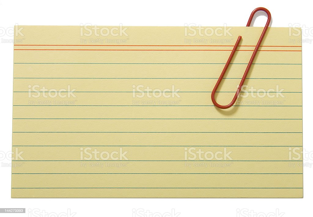 Yellow lined paper royalty-free stock photo