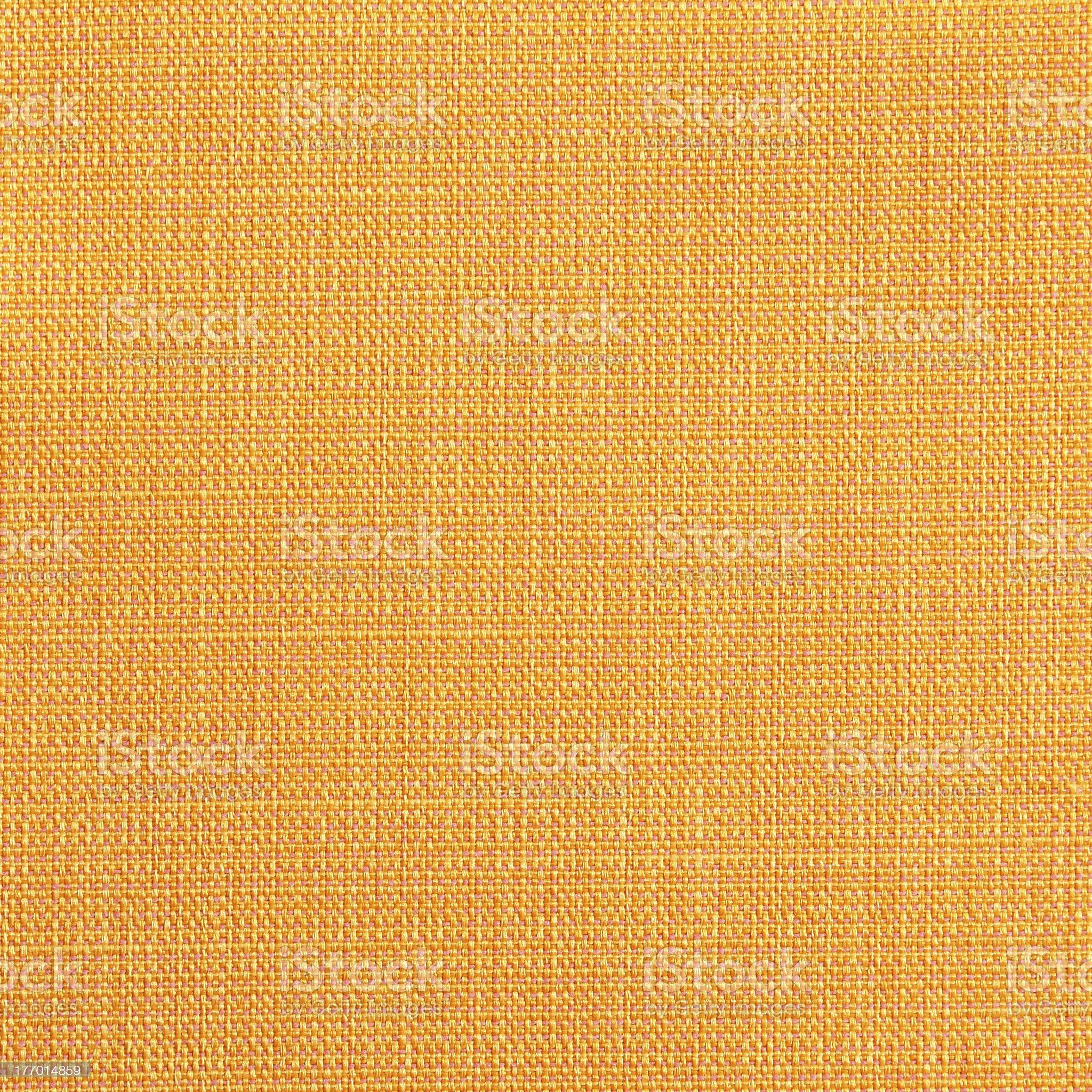 Yellow linen canvas texture royalty-free stock photo