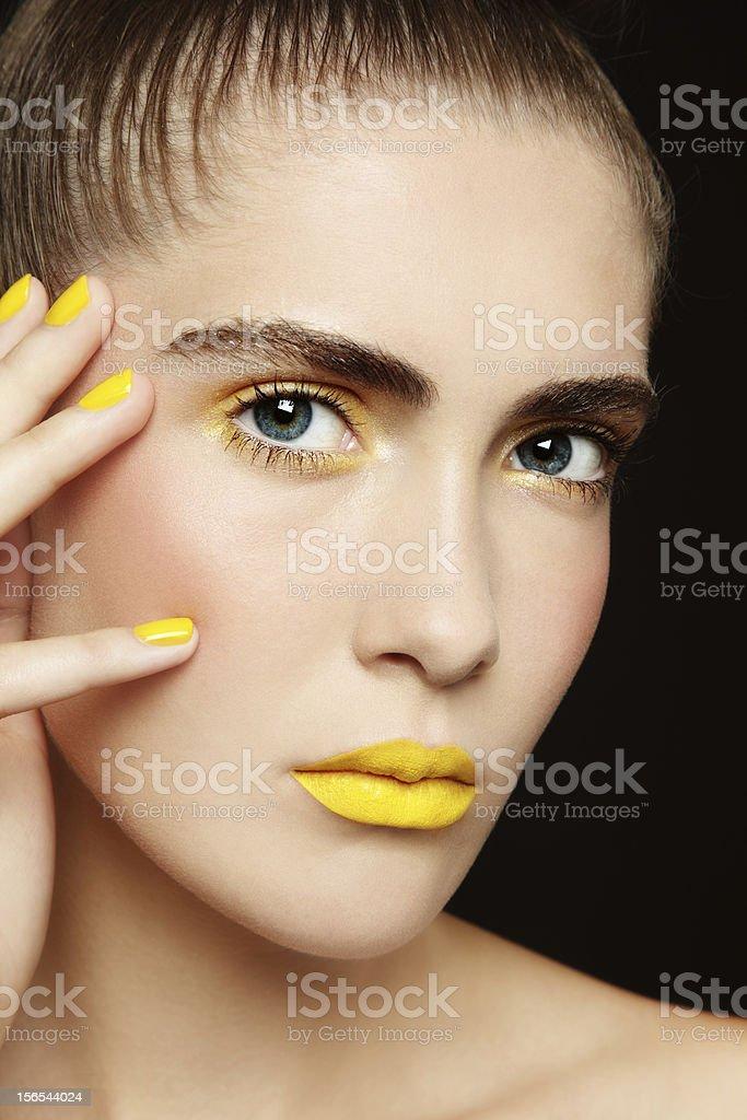 Yellow lipstick royalty-free stock photo