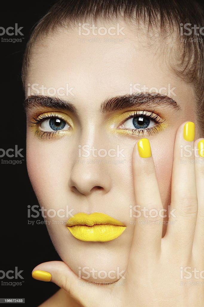 Yellow lipstick royalty-free stock photo