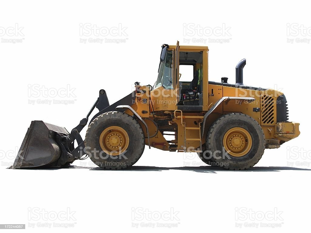 Yellow Loader royalty-free stock photo