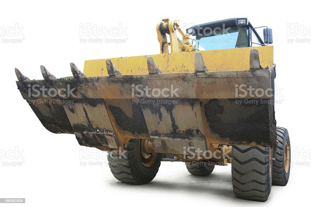 Yellow loader stock photo