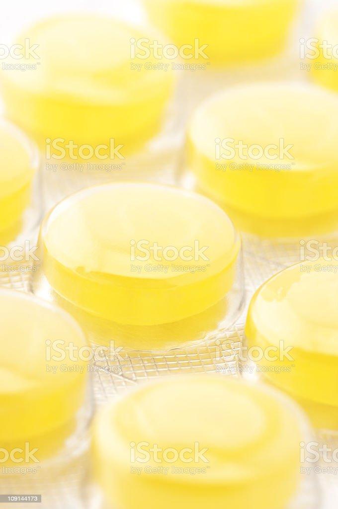 Yellow lozenges stock photo