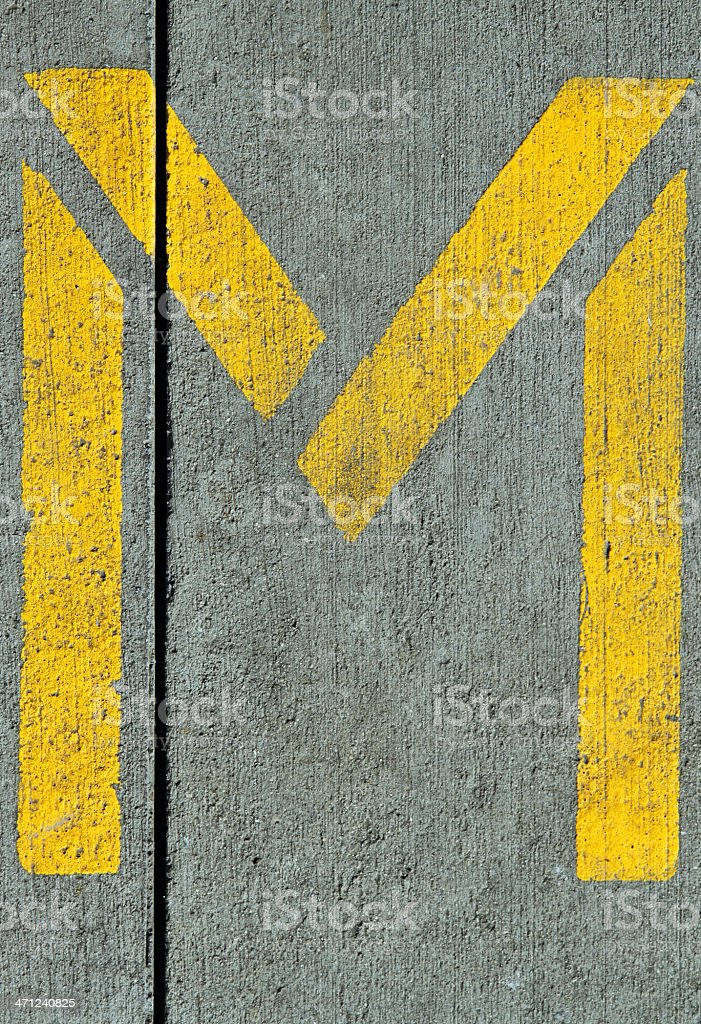 Yellow M royalty-free stock photo