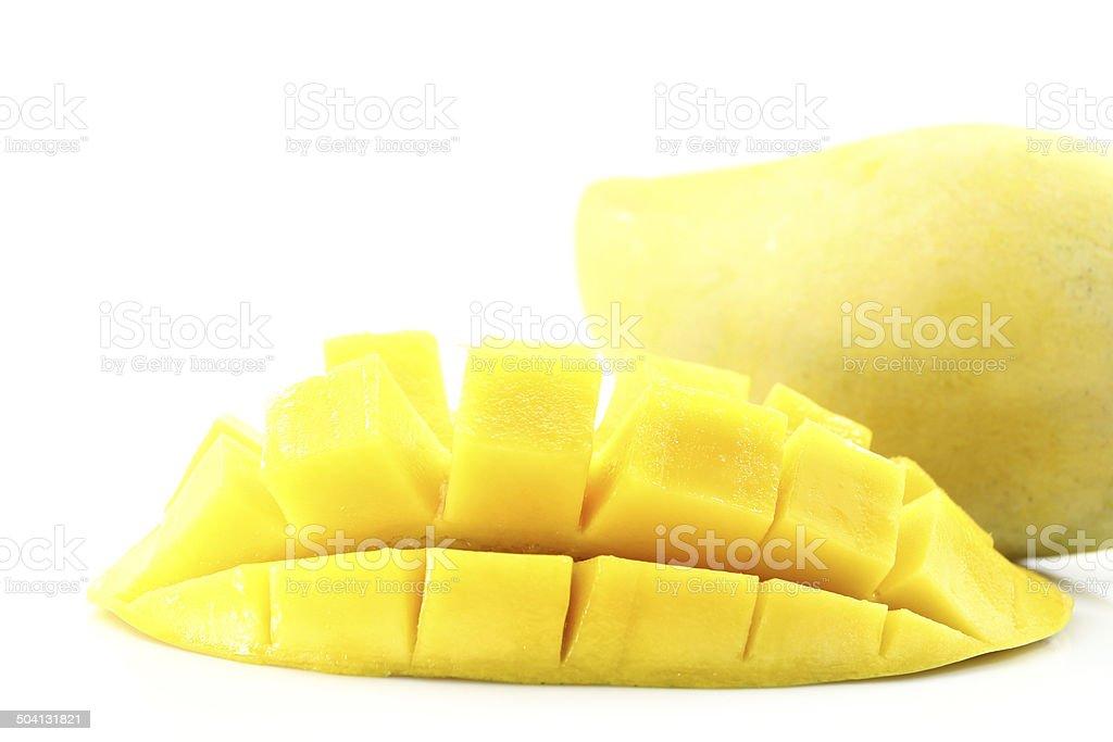 Yellow mango isolated royalty-free stock photo