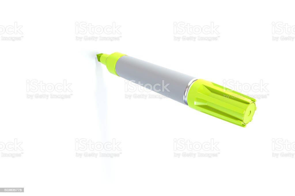 Yellow Marker stock photo