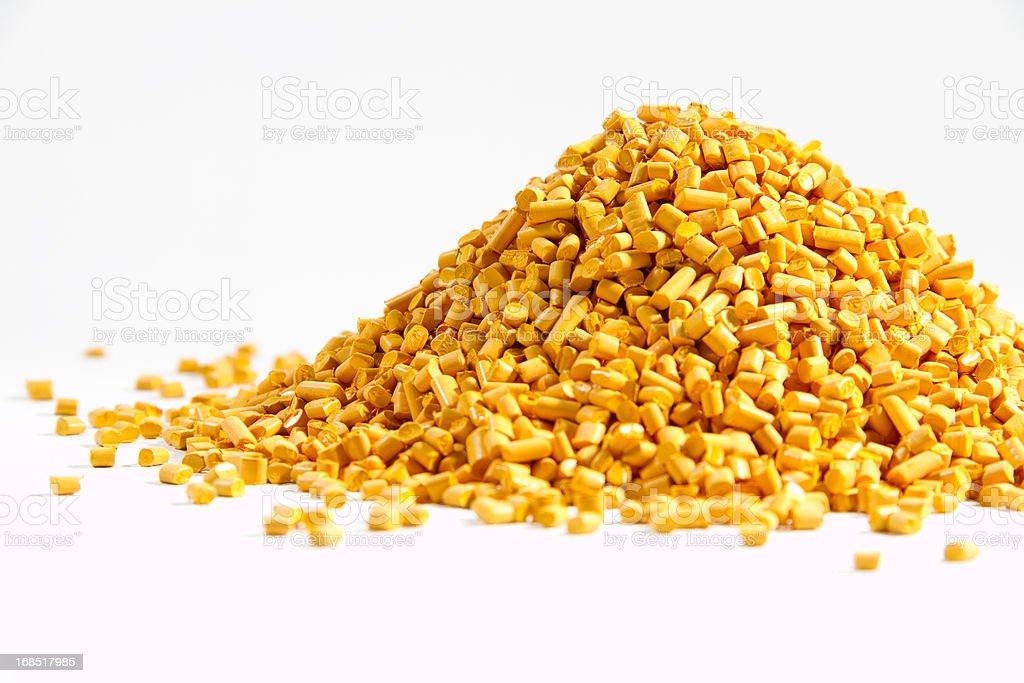 yellow masterbatch stock photo
