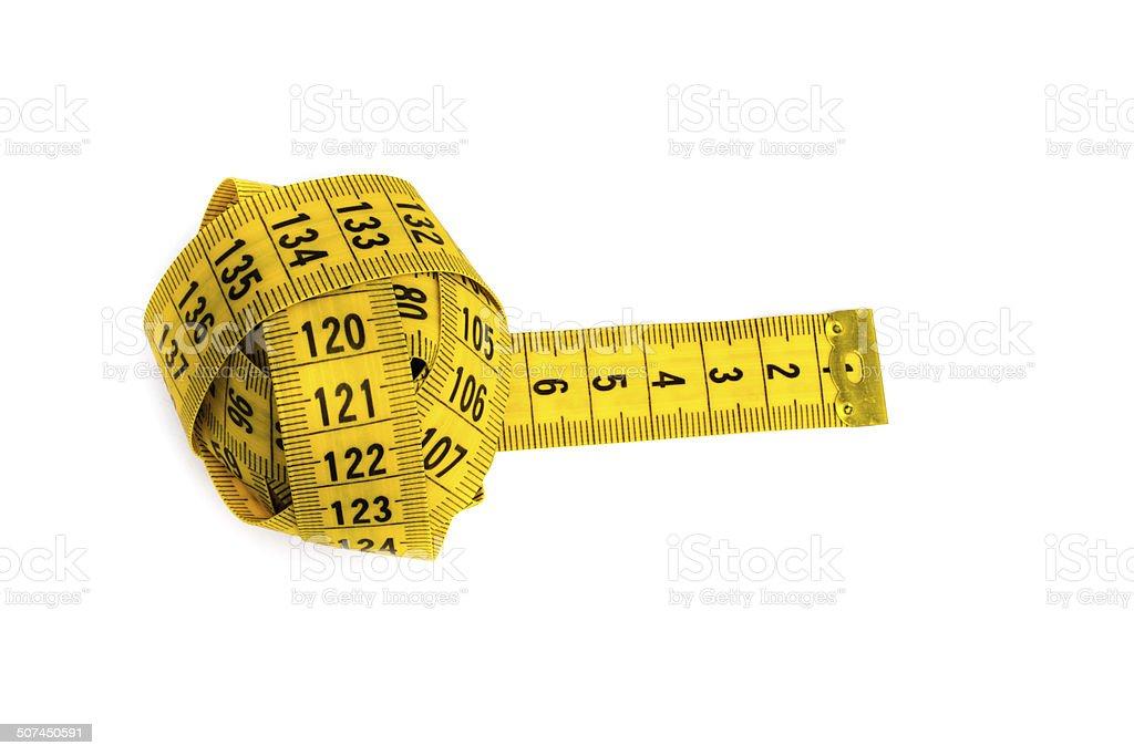 Yellow measurement ball stock photo
