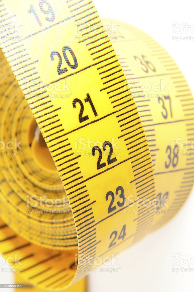 Yellow Measuring Tape royalty-free stock photo