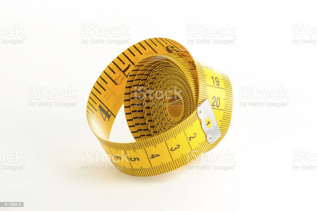 Yellow Measuring Tape stock photo