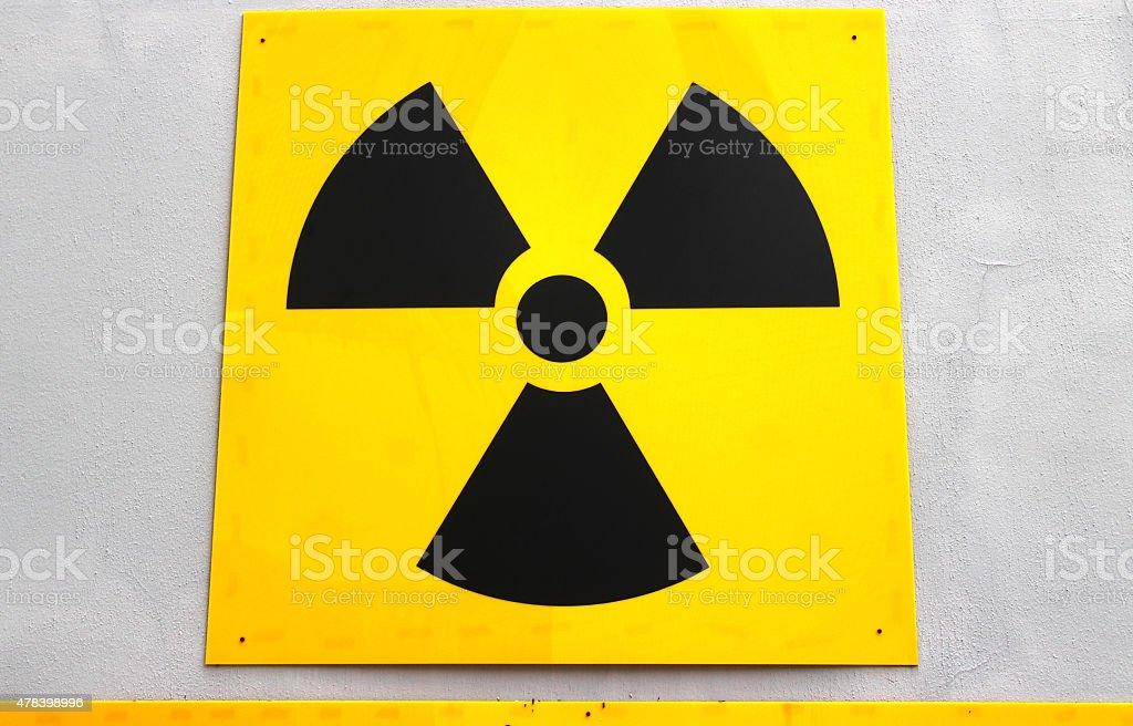 yellow medical radio symbol royalty-free stock photo