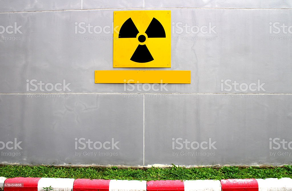 yellow medical radio symbol royalty-free stock photo