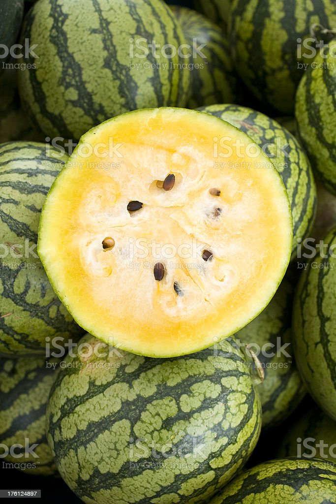 yellow melons royalty-free stock photo