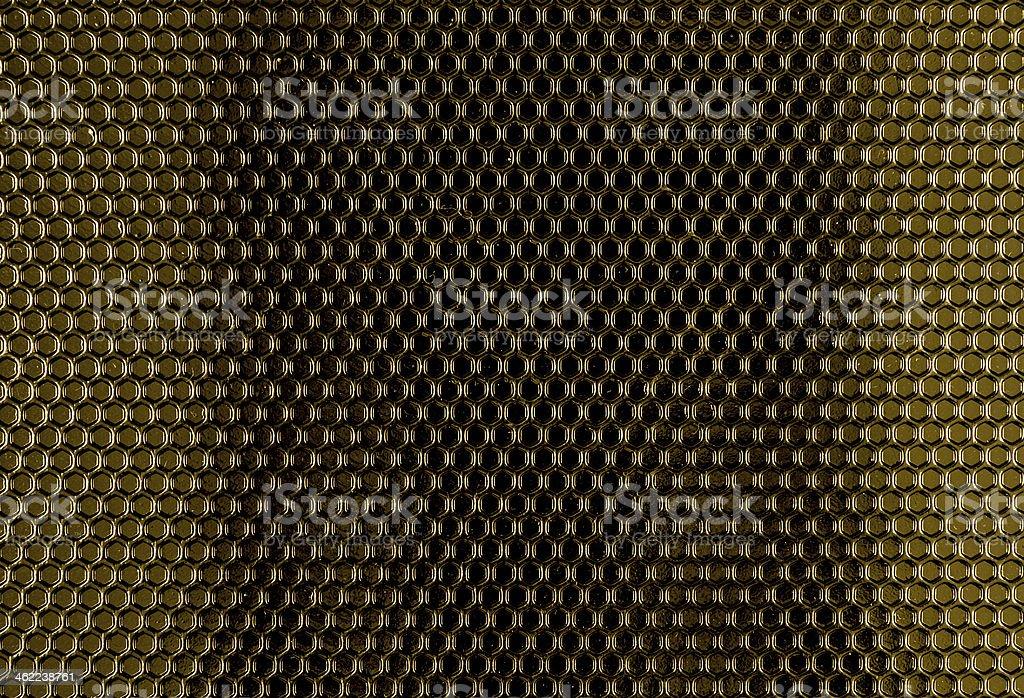 Yellow Metal Hex Cells Texture stock photo
