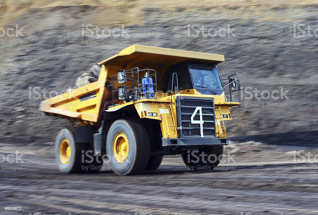 Yellow mining truck royalty-free stock photo