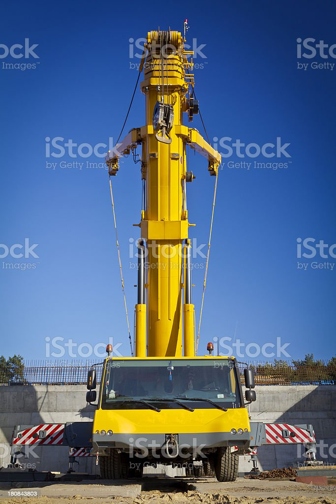 Yellow Mobile Crane royalty-free stock photo