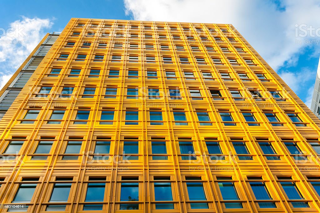 Yellow Modern Building In London England Stock Photo