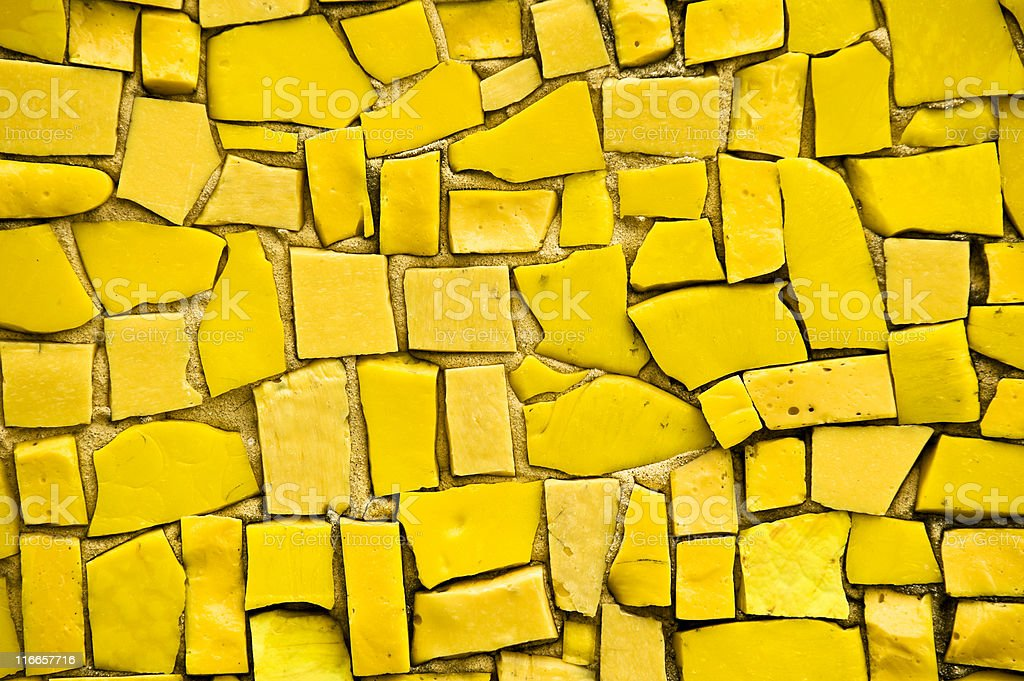 Yellow Mosaic. Color Image royalty-free stock photo