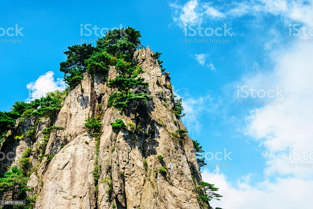 Yellow Mountains stock photo