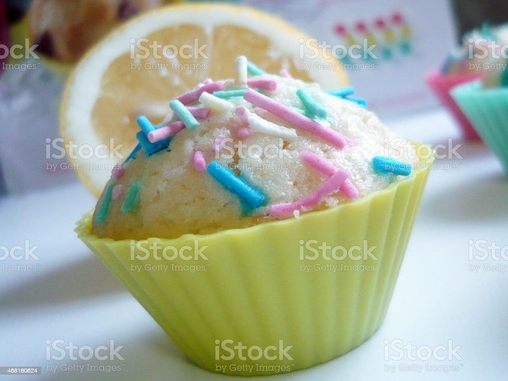 Yellow Muffin stock photo