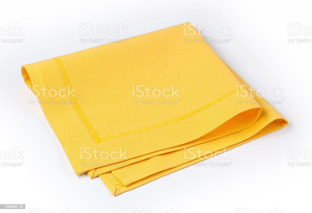 Yellow napkin stock photo