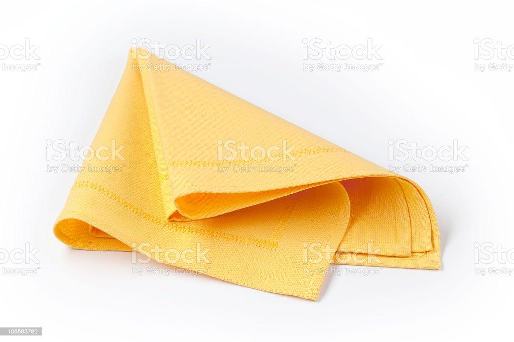 Yellow napkin royalty-free stock photo