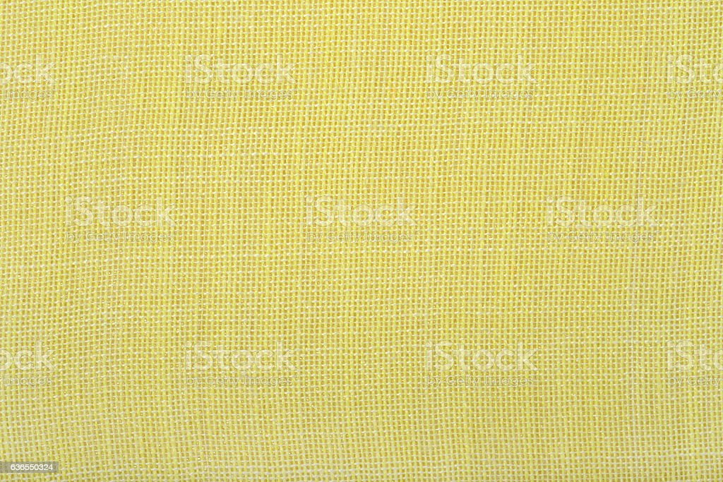 Yellow natural cotton background texture stock photo