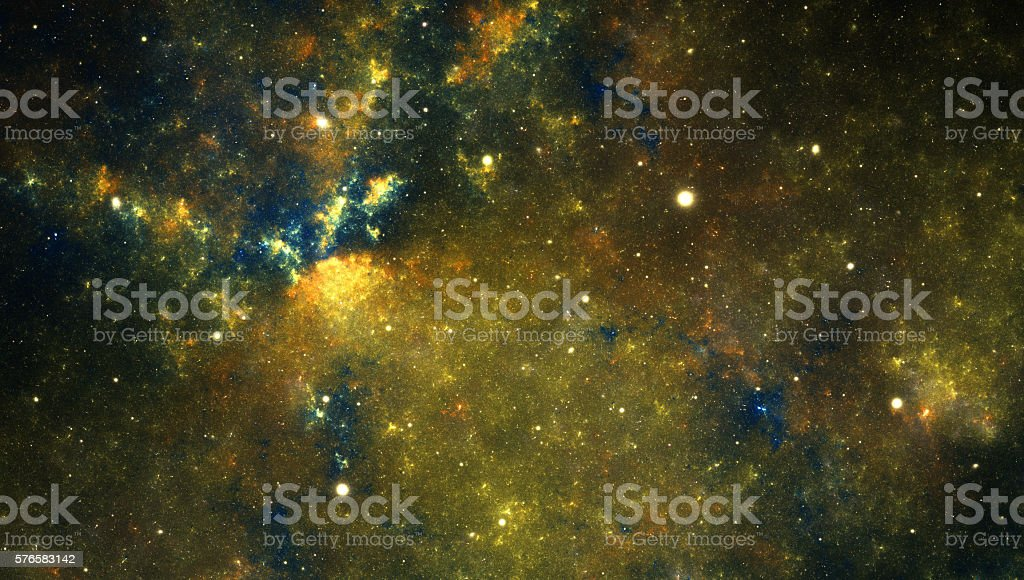 Yellow nebula stock photo
