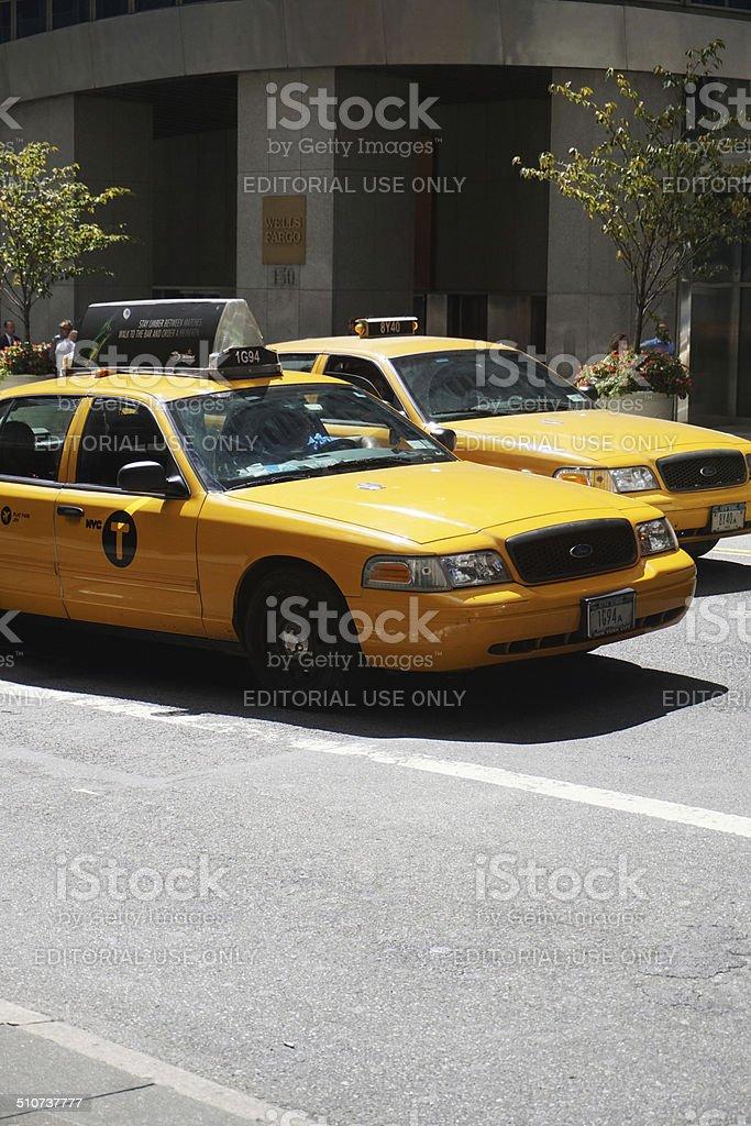 Yellow New York Taxi stock photo