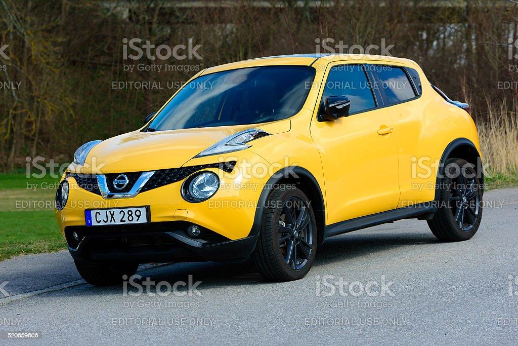 Yellow Nissan stock photo