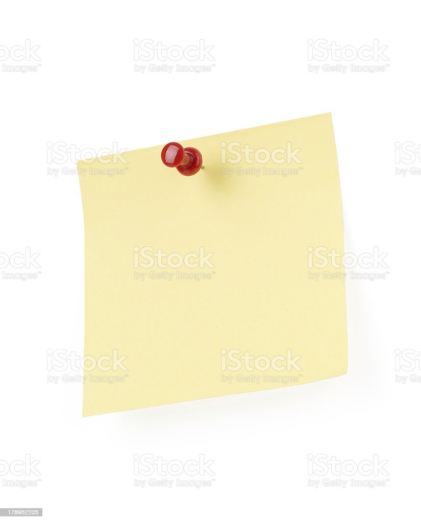 Yellow note paper royalty-free stock photo