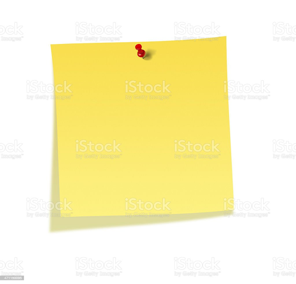 Yellow Note Paper royalty-free stock vector art