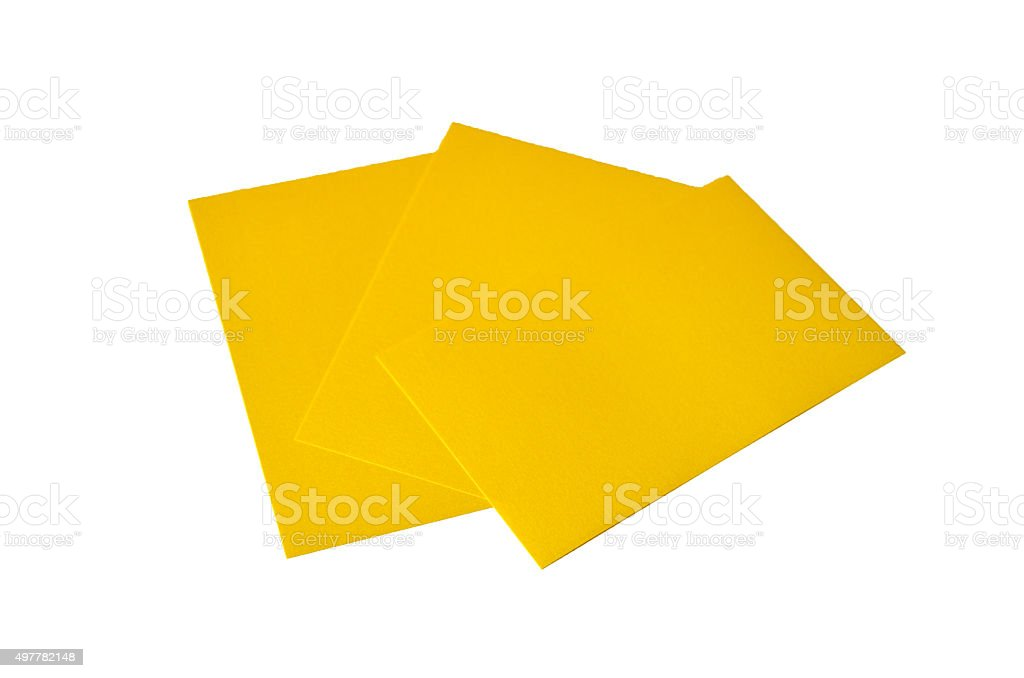 Yellow Note Papers stock photo